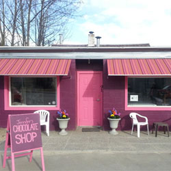 Jennifer Chocolates, shop in Nakusp, BC