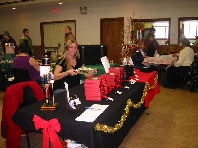 Jennifer Chocolates at the Nakusp Legion Chrismtas Fair 2011
