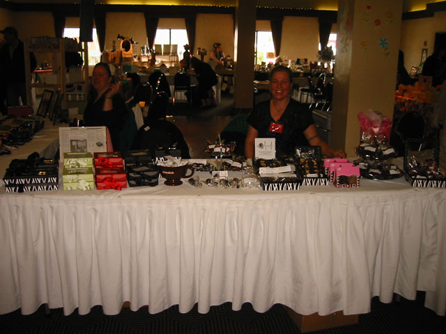 Selling Jennifer Chocolates at the Castlegar Fair 2012